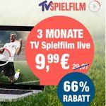 Knaller: 3 Monate TV Spielfilm Live – über 70 TV Sender – nur Heute für 9,99€ statt 30€