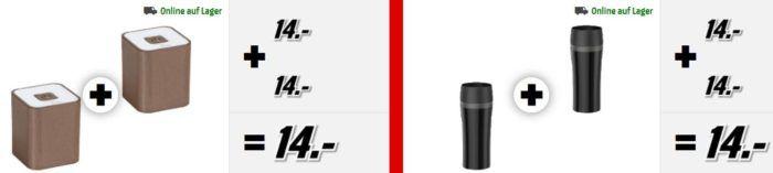 Media Markt: 2 zum Preis von 1   günstige Pfannen, Becher, Selfi & USB Sticks, Powerbanks ....