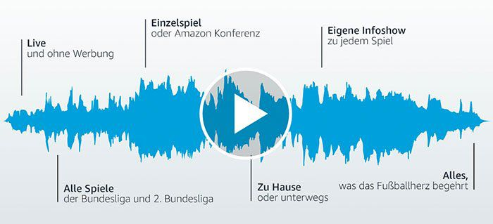 Gratis Bundesliga Live Audio Streams bei Amazon Prime Music   nur für Primer!