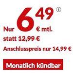 o2 Allnet-Flat mit 1GB LTE und Europa-Paket (inkl. Schweiz) mit 300MB für 6,49€ mtl. – monatlich kündbar!