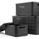 3er Set Curver Aufbewahrungsboxen im Rattan Design für 26,99€ (statt 34€)