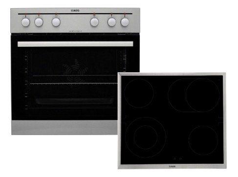 AEG EEMX221200 Einbauherd Set mit Glaskeramik Kochfeld für 448€ (statt 526€)