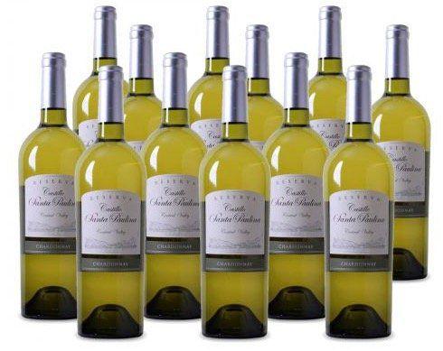 12 Flaschen Chardonnay Reserva Weißwein für 39,99€