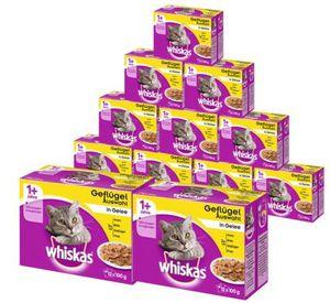 144er Pack Whiskas Katzenfutter in verschiedenen Sorten für 26,99€