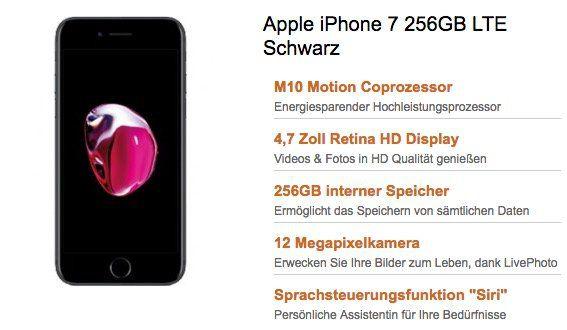 Telekom Magenta Mobil M mit 4GB LTE (Friends 6GB) für 54,74€ mtl. + iPhone 7 mit 256GB für nur 1€