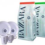 2kg Bazzara Kaffeebohnenpaket + 2 Tassen für 39,99€