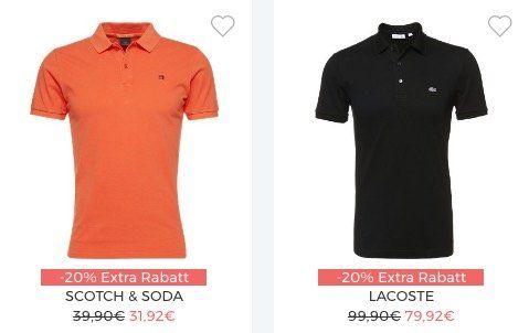 Poloshirt Sale bei About You mit bis zu 30% Extra Rabatt + 20% Gutschein ab 75€ + VSK frei