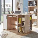 Büroeinrichtung mit Schreibtisch, Kommode und 2 Regalen für 149€