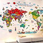 """Cartoon Wandsticker """"Reise um die Welt"""" für 3,82€ (statt 7€)"""
