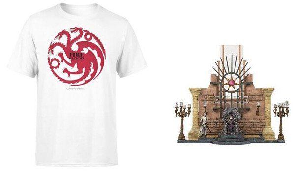 Game of Thrones Targaryen Fire and Blood T Shirt + Thronsaal und Eiserner Thron Bauset für 11,49€ (statt 39€)