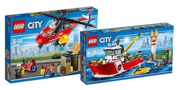 Bis zu 50% auf Lego + 10% Gutschein   z.B. Feuerwehrschiff + Löscheinheit für 53,99€ (statt 94€)