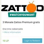 Vorbei! 3 Monate Zattoo HiQ gratis dank Lieferando Treuepunkte (10 LP)