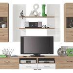 Carryhome Wohnwand mit 2 Hängeschränken, 2 Wandboards und einem TV-Element für 128,99€