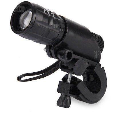 Q5 LED Taschenlampe mit 3 Modi inkl. Fahrradhalterung für 1,50€