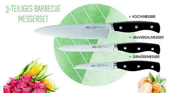 Rösle Barbecue Messerset für 23,50€ (statt 37€) oder Schüsselset mit Deckel für 68,50€