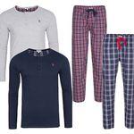 U.S. POLO ASSN. Herren Pyjama Einzelteile für je 9,99€