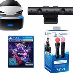 Playstation VR Brille + VR Worlds + PS4 Kamera + Move Twin Pack für 405,94€ – Neukunden nur 384,99€