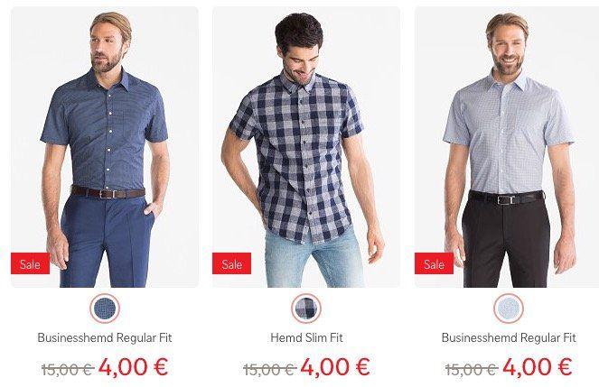 C&A komplett ohne Versandkosten + 10% Gutschein   z.B. Hemden im Sale für 4,50€