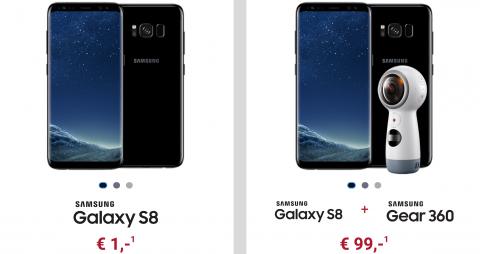 Samsung S8 o. S8 Plus für 1€ + O2 AllNet + SMS Flat + 15GB LTE ab 34,99€ mtl.