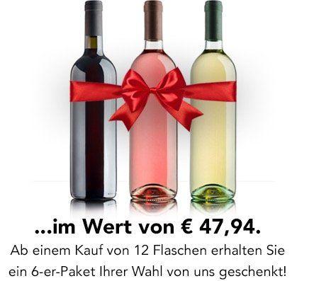 Weinvorteil   12er Pack kaufen + 6 Flaschen gratis geschenkt dazu