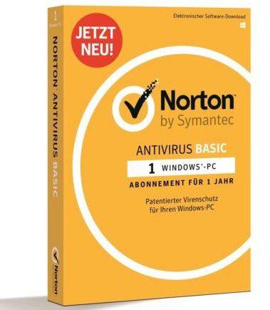 1 Jahr Symantec Norton Antivirus Basic (1 PC) für 9,99€ (statt 16€)