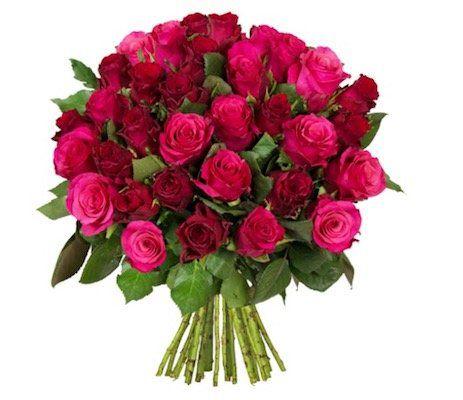 44 Rosen im Strauß True Love für 24,98€