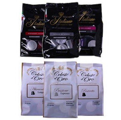 135er Pack Kaffee Kapseln im Probierpaket Italien für Nespresso Maschinen für 25,99€