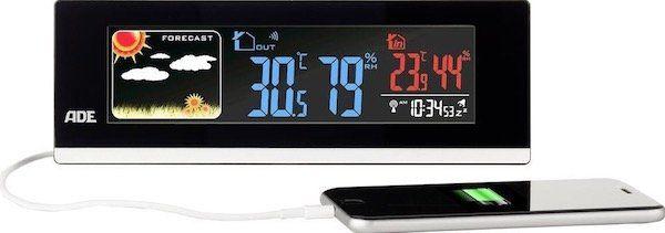 ADE WS 1601 Funk Wetterstation mit USB Anschluss für 27,99€ (statt 33€)