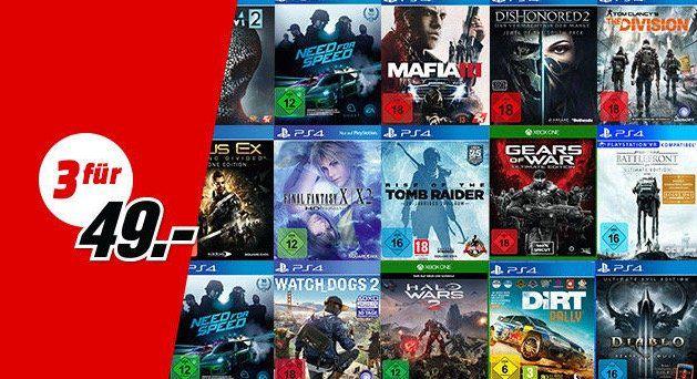 3x PS4, Switch, Xbox oder PC Games für nur 49€