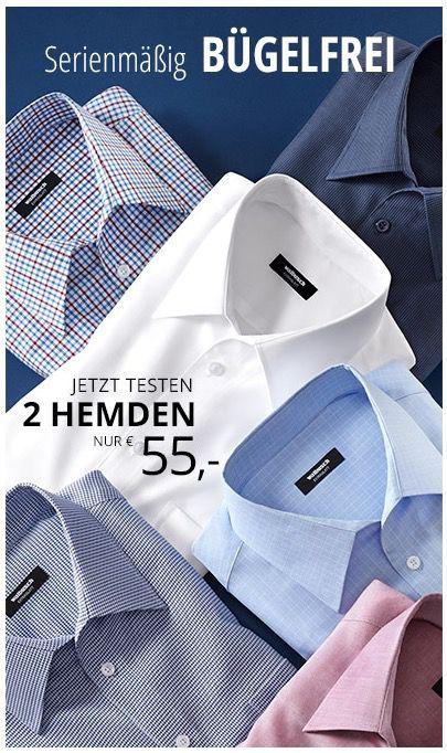 2 bügelfreie Walbusch Hemden für 60,95€