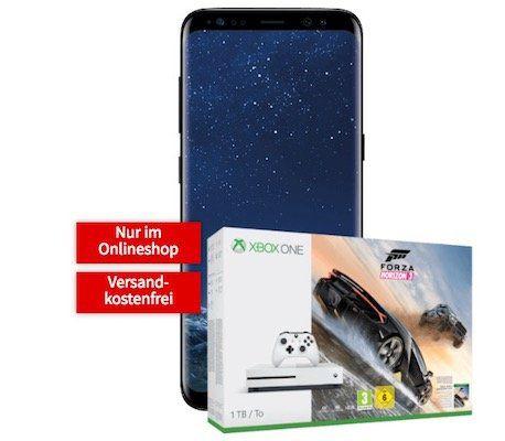 Knaller! Samsung Galaxy S8 + Xbox One 1TB + Forza Horizon 3 für 99€ (statt 784€) + Vodafone Flat mit 1GB für 24,99€ mtl.