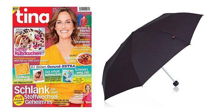 tina: 8 Wochen Probeabo + KNIRPS Regenschirm im Wert von 25€ für nur 5,70€