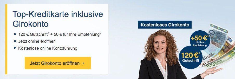 Bis zu 120€ für gratis Girokontoeröffnung bei der 1822direkt + 50€ für Weiterempfehlung