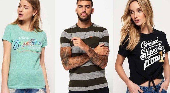 Superdry T Shirts für Damen und Herren   über 20 verschiedene Modelle für 10,35€