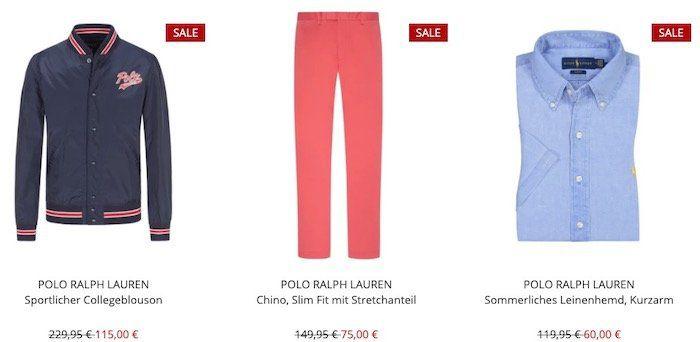 Wegen Umbau: Polo Ralph Lauren bis  50% bei Hirmer + 10€ Gutschein ab 80€