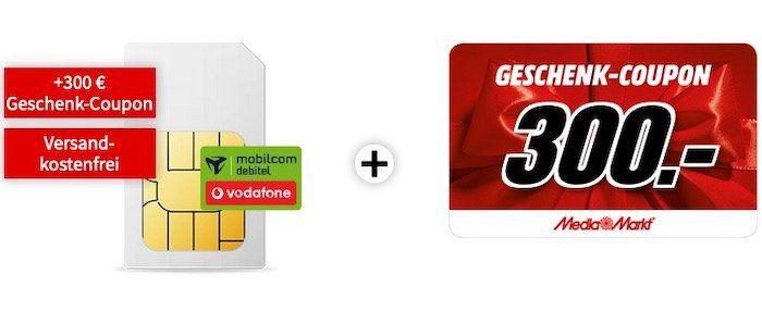 🔥 Knaller! Vodafone Allnet Flat mit 6GB LTE für 14,99€ + 300€ MM Gutschein   effektiv 4,15€ mtl.