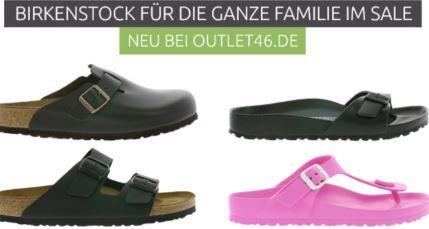 Birkenstock Sale bei Outlet46   Damen & Herren Pantoletten ab 17,99€