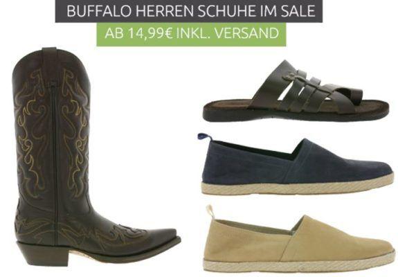 Buffalo Herren Schuhe mini Sale   Verona Echtleder Cowboystiefel statt 103€ für 39,99€