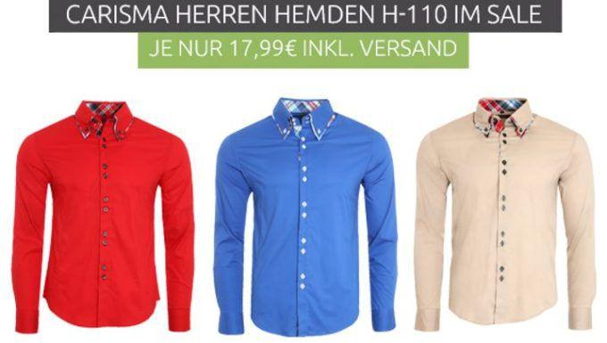 CARISMA Basic Herren Freizeit Hemden in 3 Farben für je 17,99€