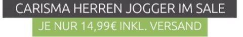 CARISMA Basic Herren Jogginghose für 14,99€