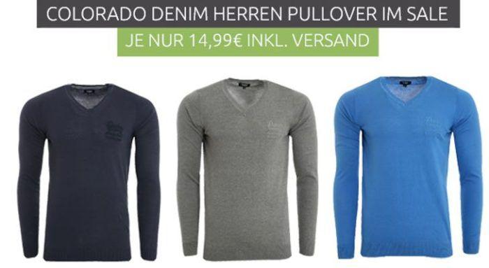 Colorado Denim Alexej Herren Sweaterstatt 36€ für je 14,99€