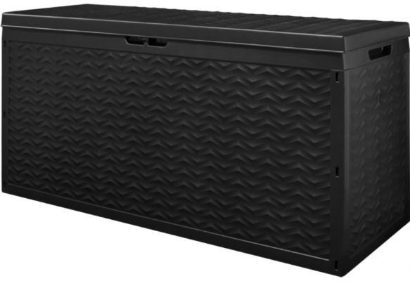 Deuba   320l Auflagenbox mit Rollen Polyrattanoptik für 34,95€