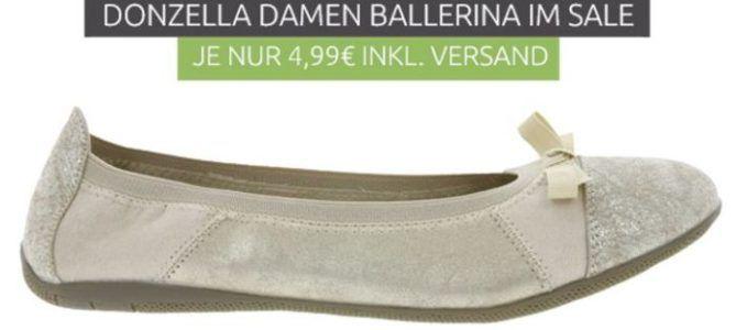 DONZELLA Damen Ballerina statt 30€ für 4,99€