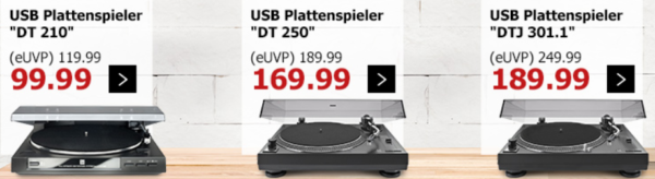 Karstadt Kracher mit z.B. 20% Rabatt auf Herren Schmuck  u. Uhren, Make Up   günstige DUAL Plattenspieler