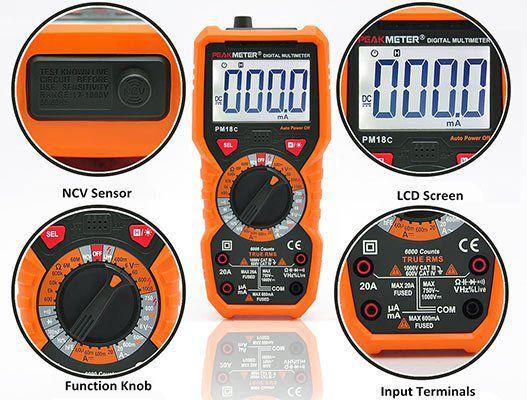 PM18C Digitales Messgerät für Stromspannung, Widerstand, Kapazitanz, Frequenz & Temperatur für 16,25€ (statt 21€)