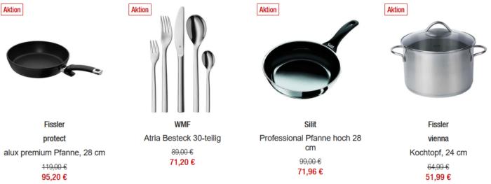 Galeria Kaufhof: 20% Rabatt auf WMF, Silit und Fissler bis Mitternacht