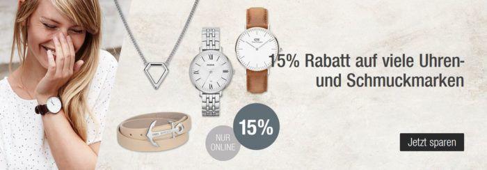 Galeria Kaufhof: 30% Rabatt auf reduzierte Bekleidung, Taschen u. Bademoden + 15% Rabatt auf viele Uhren u. Schmuck bis Mitternacht