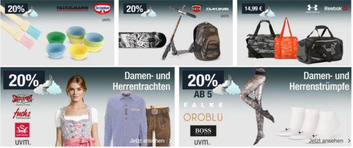 20% Rabatt auf Sporttaschen, Kindermode, Trachten uvm.   Galeria Kaufhof Mondschein Angebote