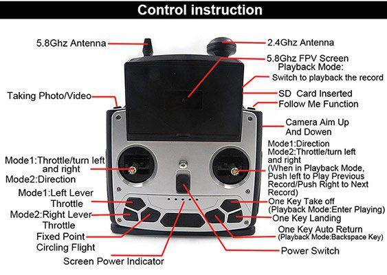 Flytec Navi T23   RTF Drohne mit FollowMe, 1080p Cam, GPS, 120° Weitwinkel für ~167,60€