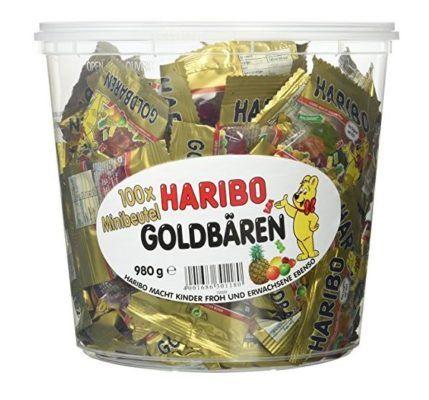 Haribo Goldbären 100 Minibeutel (1 x 980 g Dose) nur 5,56€ für Primer